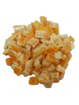 écorces d'orange séchées semi-confites