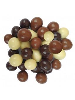 Noisettes enrobées au chocolat