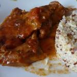 recette lapin tomate nora hojilla concassée