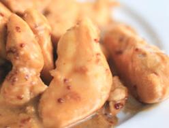 Recette des aiguillettes de poulet aux graines de moutarde