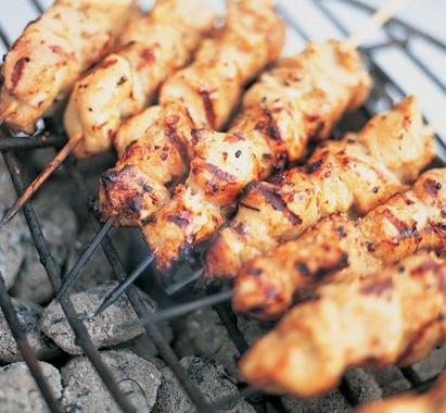 Brochettes de poulet au Kefta