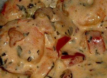 Recette des crevettes à la crème aromatisées nora hojilla