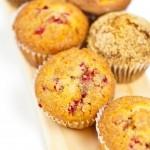 recette des muffins aux cranberries séchées canneberges