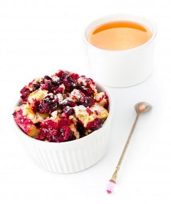 recette du crumble aux pommes et cerises a la cannelle