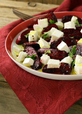 recette salade de betteraves rouge chèvre anis vert