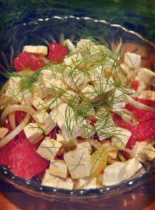recette de salade fenouil pamplemousse feta badiane