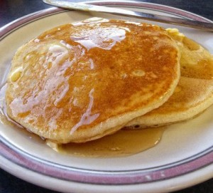recette des pancakes aux pommes bananes poire graines de lin