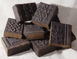 Exemple de briques de poudre de thé