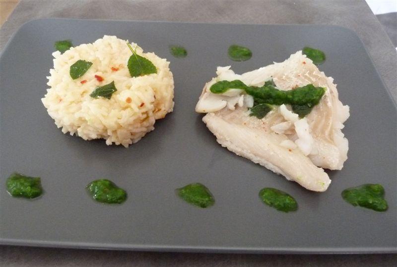 Recette du cabillaud au riz basmati et épice nora