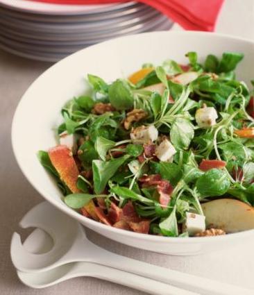 Recette de salade de mâche italienne aux épices