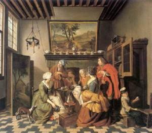 Illustration du five o'clock tea time