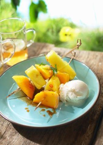 Recette ananas caramélisé aromatisé aux cinq épices