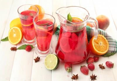 recette de la sangria sans alcool (hibiscus)