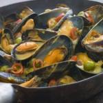 recette des moules aux epices (curry, curcuma)