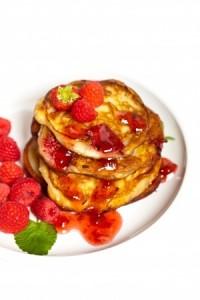 recette pancakes framboise