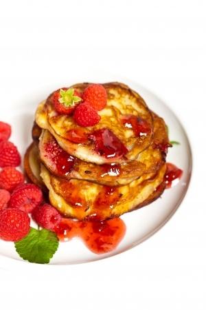 Recette pancakes à la framboise et aux épices