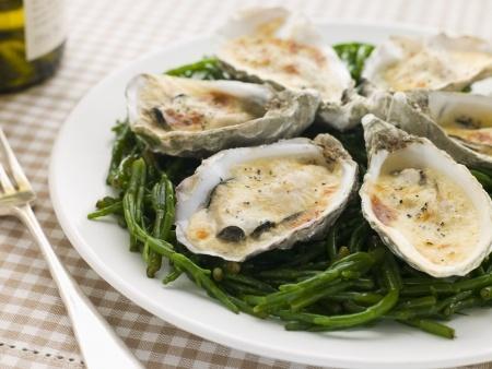 Recette des huîtres au four à l'orientale