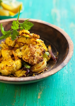 Recette : Chou-fleur au curry à la poêle