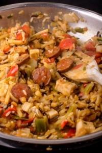 jambalaya poulet chorizo louisiane