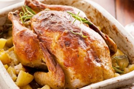 poulet roti au miel vanille et epices