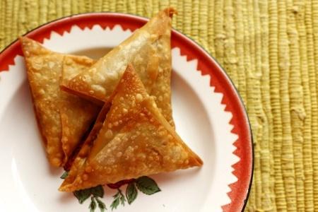 Recette : Samoussas au fromage de chèvre