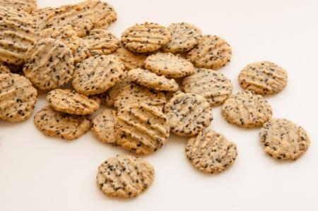 Recette : cookies au parmesan et graines de nigelle