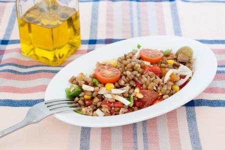 salade de lentilles aux epices