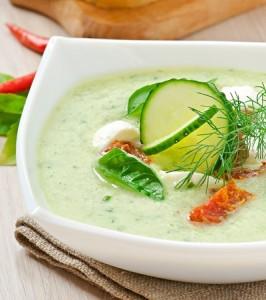 soupe de concombre epices