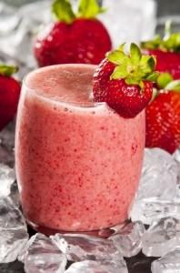 milk shake fraise epices