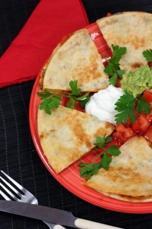 Recette : Quesadillas au fromage frais et tomates séchées