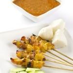 brochette de poulet malaisienne sauce satay