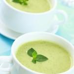 soupe froide concombre basilic