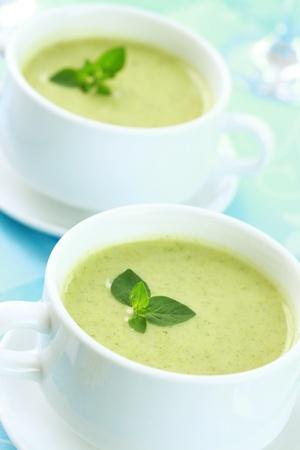 Recette : soupe froide de concombre au basilic