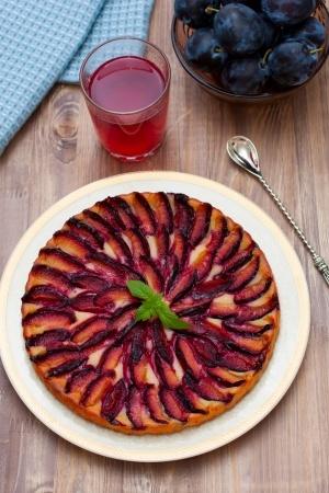 Recette : Tarte aux prunes au miel et épices