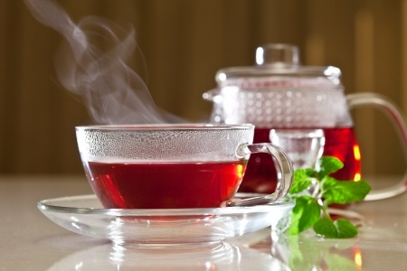 Recette : Thé vert à l'hibiscus