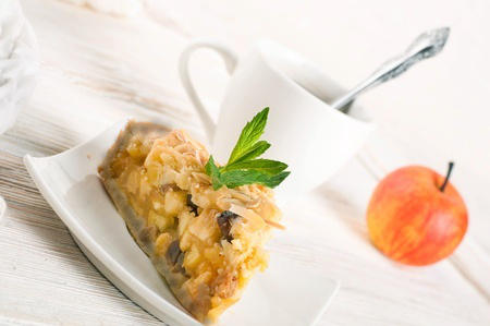 Recette : Tarte aux pommes sans pâte aux mûres blanches (mulberries)