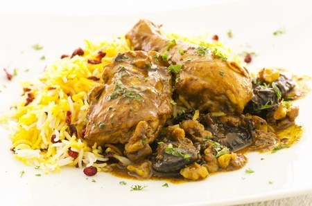 Recette : poulet iranien aux berberis