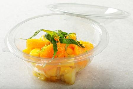 Recette : Salade de mangue au jus d'agrumes et aux épices