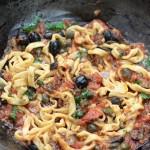 pates sauce putanesca italienne