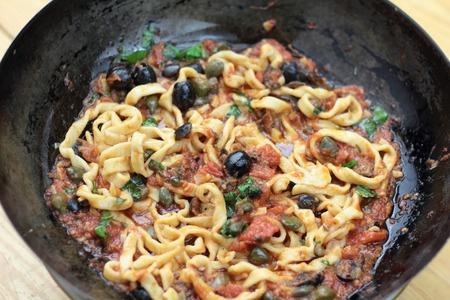 Recette : Pâtes à la sauce Puttanesca
