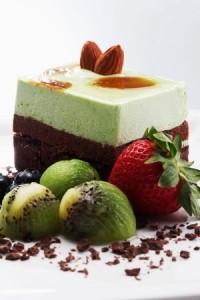 entremets pistache chocolat