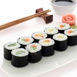 makis sushis saumon gomasio