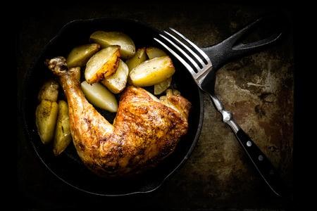 Recette : Cuisses de poulet au mélange du trappeur