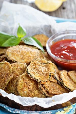 Recette : chips de courgettes aux épices Dukkah