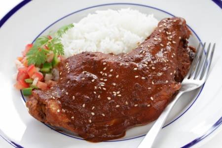 mole poblano avec du poulet