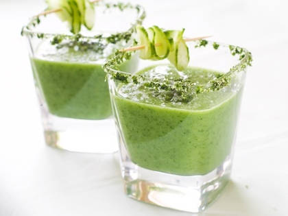 Smoothie avocat concombre