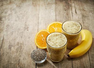 Recette : smoothie banane et graines de chia !