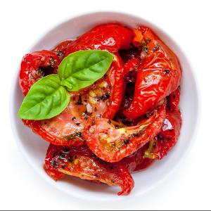 Préparation de la recette  5 min + minimum 1 semaine de macération. Pour   1 bocal de tomates confites