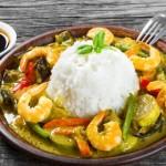 curry vert crevettes recette thailandaise