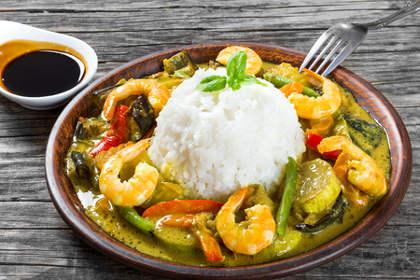 Recette curry vert de crevettes tha for Cuisine thailandaise